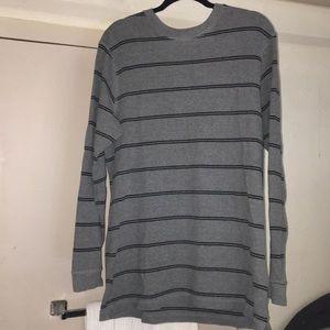 Sweaters - Rugged Trails Grey/Black Stripe Sweater